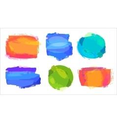 Retro colored vintage labels vector image