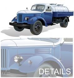 Retro tank car vector