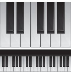 Seamless piano keys vector image
