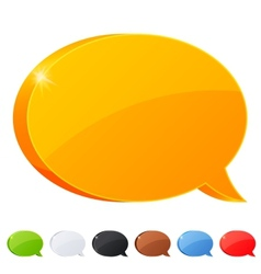 Set of 7 speech bubble symbol in different colors vector image vector image