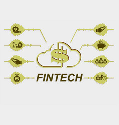 sign symbol financial technology vector image
