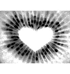Sketch painting kiwi fruit close up vector image