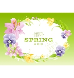Spring green background easter mothers day vector