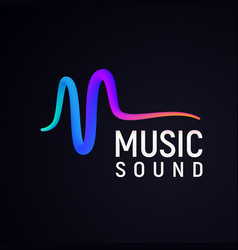 Stylised sound wave isolated logo abstract pulse vector