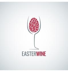 Wine easter egg design background vector