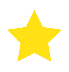 yellow star decoration award image vector image