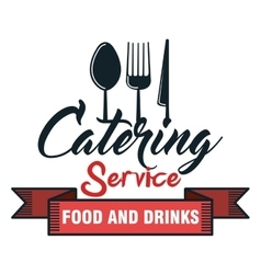 Catering delicious food icon vector