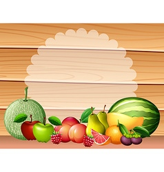 Frame design with many fruits vector