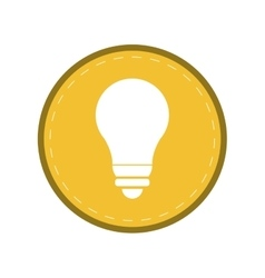 Bulb light energy electricity icon yellow circle vector