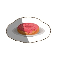 Isolated donut design vector