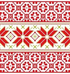 Scandinavian knitted winter pattern vector