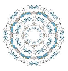mandala ethnicity round ornament vector image