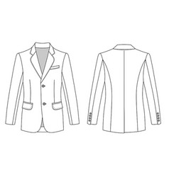 mans buttoned jacket vector image