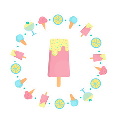 Ice cream bar in flat style vector