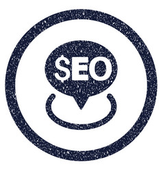 Seo geotargeting rounded grainy icon vector