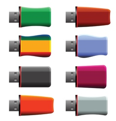 Usb memory sticks vector