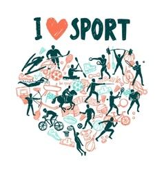 Love Sport Concept vector image