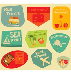 Travel stickers set vector