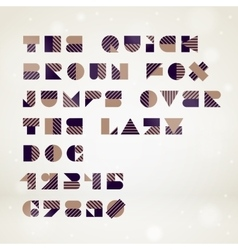 Abstract geometric font vector