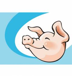 Smiling pig vector