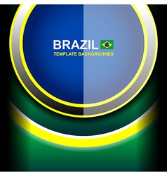 Brazil color circle backgrounds vector
