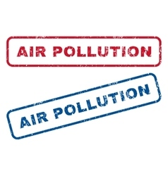 Air pollution rubber stamps vector