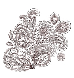 Beautiful Indian paisley ornament vector image vector image