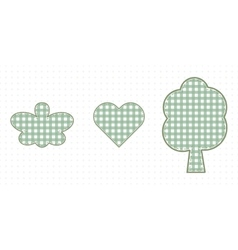 Butterfly heart and tree love of nature cute baby vector
