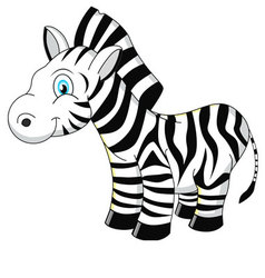 Cartoon Zebra vector image