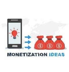 Concept abstract monetization ideas vector