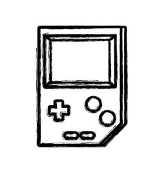 Contour videogame console toplay and enjoy vector