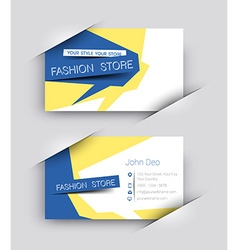 Fashion business card set vector