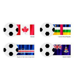 Football of canada central african cape verde vector