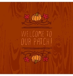 handdrawn autumn element with text vector image