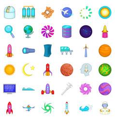 high tech icons set cartoon style vector image vector image