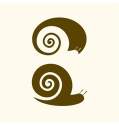 Isolated snail logo animal sign simple vector