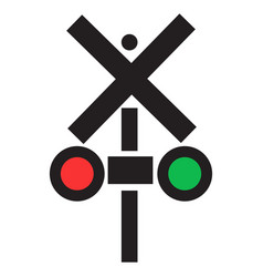 Isolated traffic light icon vector