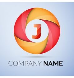 J letter colorful logo in the circle template for vector