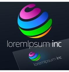 Logo for Media Fashion Cosmetics vector image vector image