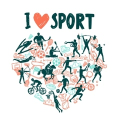 Love Sport Concept vector image vector image