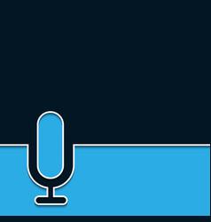 modern microphone online background vector image vector image