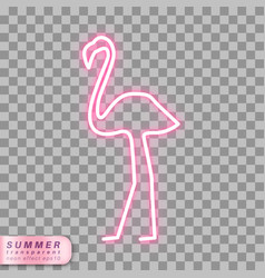 Neon flamingo symbol vector
