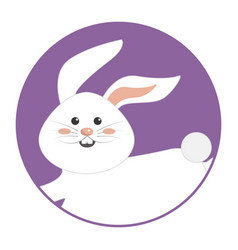 Nice happy rabbit running cartoon vector