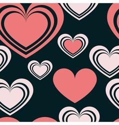 pattern heart 2 vector image