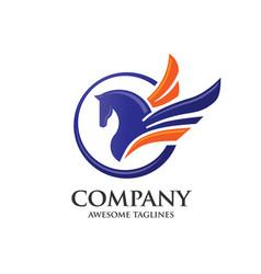 pegasus logo concept vector image