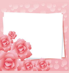Pinky and floral design vector