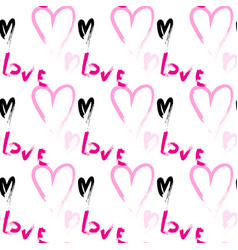 Seamless pattern with heart shapes love concept vector
