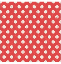 seamless polka dots texture red pattern vector image