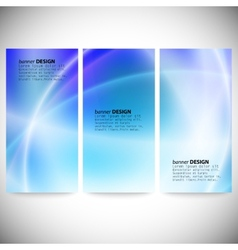 Set of vertical banners Abstract background blue vector image