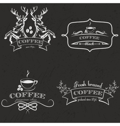 Set of vintage retro coffee logo badges and labels vector image vector image